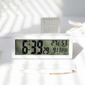캘린더 탁상시계 날짜 온도 습도 달력 화이트