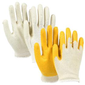 반코팅 장갑 고급면사 작업용 노랑 백색 20켤레