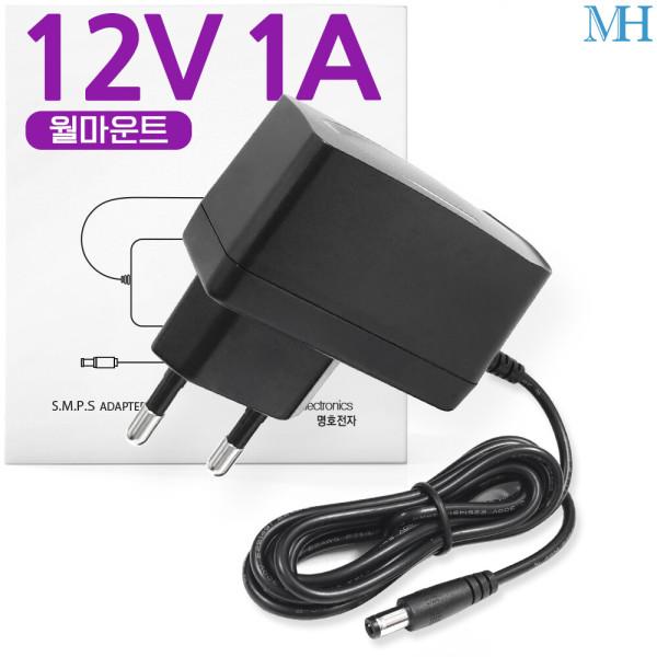 12V1A 어댑터 12V(월마운트) DC 직류 전원 파워 SMPS 상품이미지