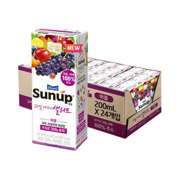매일 과일야채샐러드 퍼플 200ml 24팩/주스/음료수 상품이미지