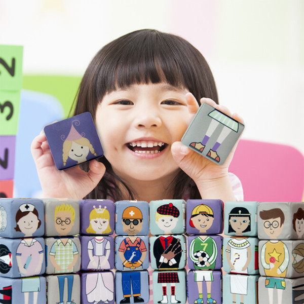 말랑말랑 스펀지 주사위 퍼즐 놀이 세트 상품이미지