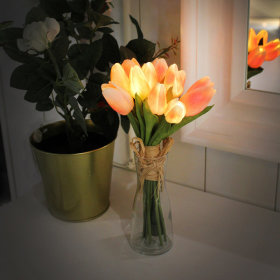 VIA K studio Peach Tulip Bouquet LED Mood Lamp