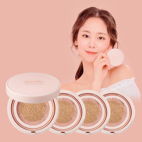 (Main1+Refill3)JUSTFIT ONCE ROSY CUSHION Set