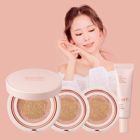 (Primer1+Cushion1+Refill2)JUSTFIT ONCE ROSY CUSHION Set
