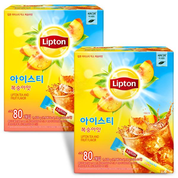 립톤 아이스티 복숭아맛 80Tx2/홍차/레몬에이드/음료 상품이미지