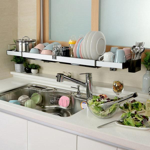 퀸 304(길이/높이조절)주방 싱크대 씽크 선반 설거지 상품이미지