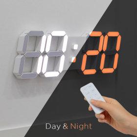 3D 거실 LED 벽시계 무선 리모컨 빅플러스 듀얼