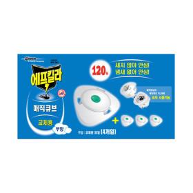 에프킬라 매직큐브 리필(30일)x4개 모기약
