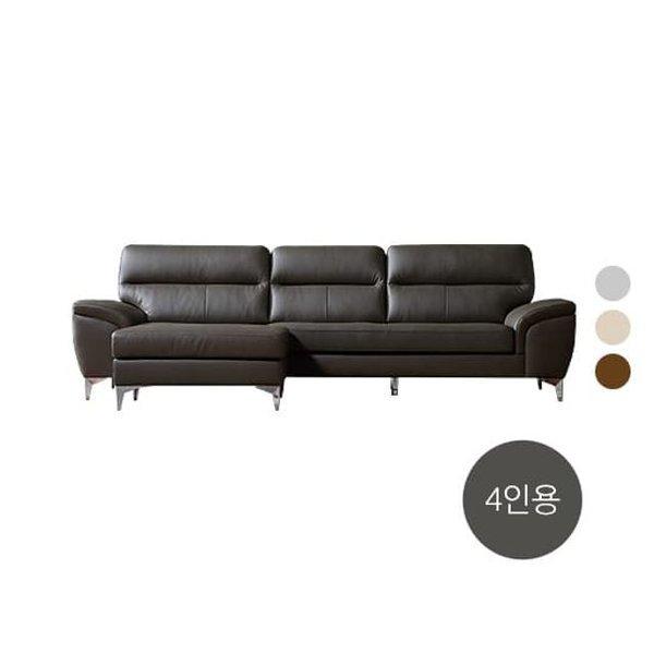 우아미 천연가죽소파 4인용+오토만스툴+쿠션 2개+리프트업테이블 상품이미지