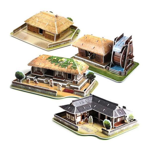 3D 입체퍼즐 한국의 문화유산 전통가옥 4종 상품이미지