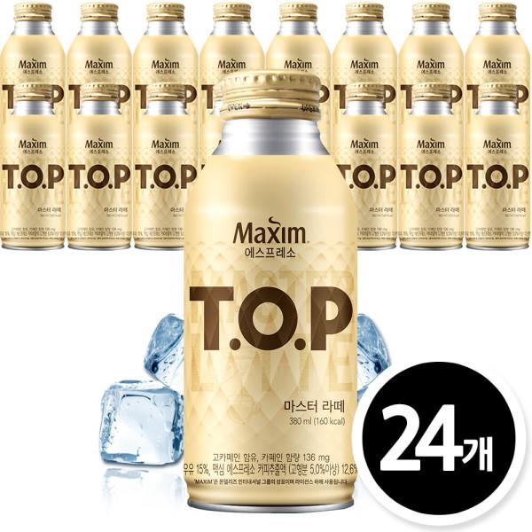 TOP 마스터라떼 380mlx24캔/캔커피/캔음료 상품이미지