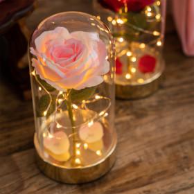 비아케이스튜디오 골드 핑크 쁘띠 로즈돔 LED 무드등