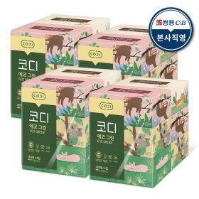 에코그린 미용티슈 180매 6매 4팩 각티슈 화장지
