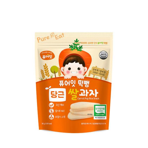 떡뻥 유기농 당근 쌀과자 30g x 1봉 스마일배송 상품이미지