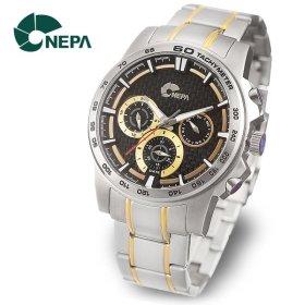 [네파] NEPA 남성 정장 야광 메탈 손목시계 N5024-GOLD