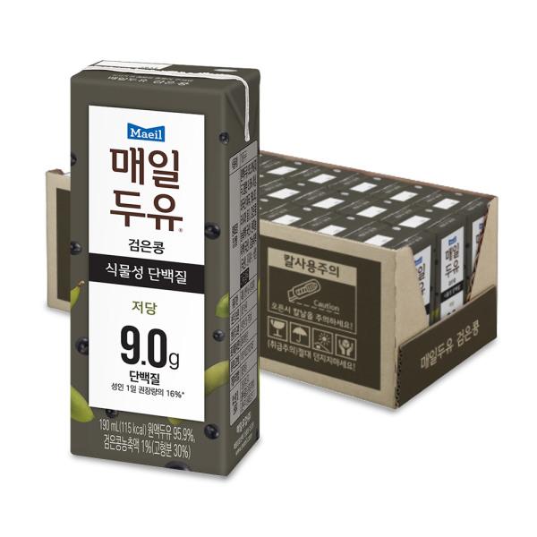 매일두유 검은콩 식물성단백질 두유 190ml 24팩 상품이미지