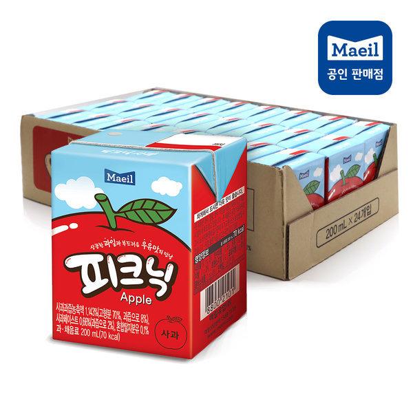 피크닉음료(200ml) 사과24팩 이중박스포장 상품이미지
