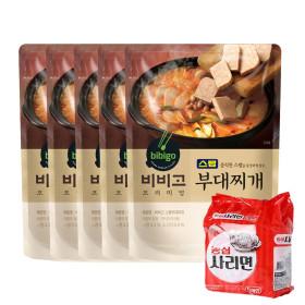 비비고 스팸 부대찌개 460g 5개/유통기한2021-11-14