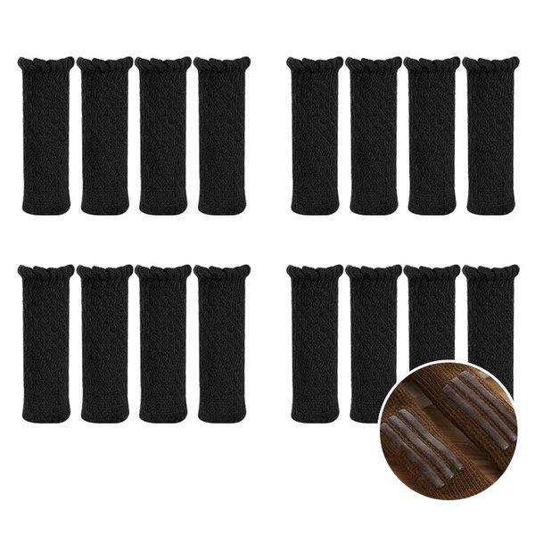 의자발커버 의자양말 프릴N  4P+4P+4P+4P 블랙 상품이미지