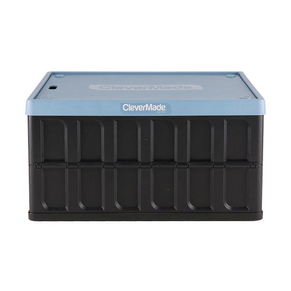 직수입 CleverMade 접이식뚜껑수납합 62L 블루 상품이미지