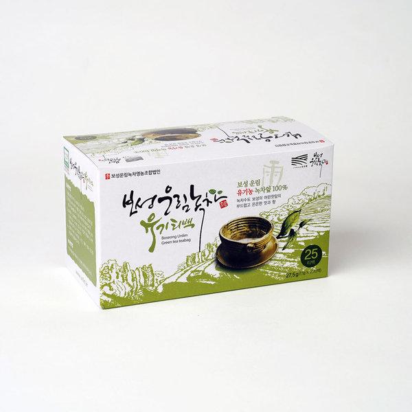 유기농 녹차티백 (25개입) 보성녹차 어린잎차 향과 맛 상품이미지