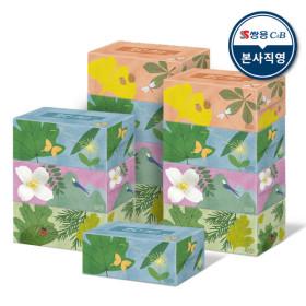 아름드리 미용티슈 200매 6입 2팩 각티슈 화장지