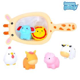 목욕놀이  아기 물놀이 장난감 / 동물친구들과 뜰채