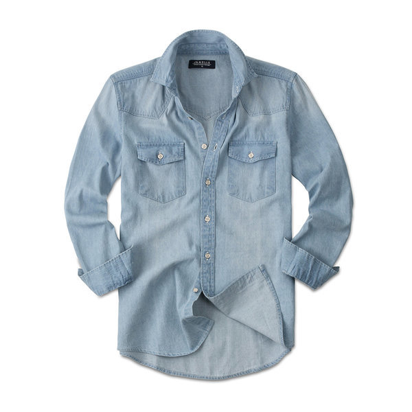 빈티지 청남방 남성 남자 긴팔 데님 셔츠 남방 JM069 상품이미지