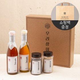 (우리농산) [우리상회]국내산 참기름+들기름+깨2종 종합선물세트