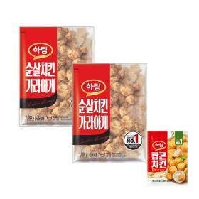 순살치킨 가라아게 1kg 2봉 + 팝콘치킨180g