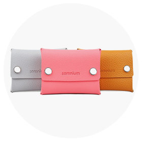 (ACC004 Somniom double ticking coin purse) Premium coin purse promotion mini ticking