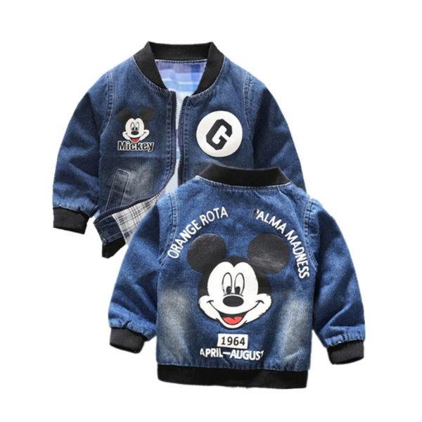 유아동 미키마우스 캐주얼 연청 자켓 신생아 의류 상품이미지