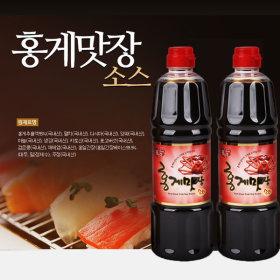 홍일식품 홍게맛장소스 900ml 2병 천연조미료