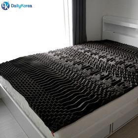 마약 매트리스 퀸 바닥토퍼형 10cm 수면 침대 푹신 3D