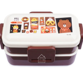LINE FRIENDS/BRAUN/Cafe/2-Fold/Lunch/Lunch Box/600ml