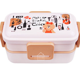 LINE FRIENDS Choco/Cosmetic/2-Fold/Lunch/Lunch Box