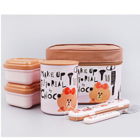 LINE FRIENDS Choco/Cosmetic/STAINLESS STEEL/Thermal/Lunch Box/560ml