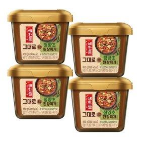 해찬들 그대로 끓여먹는 된장찌개 전용 청양초450g 4개