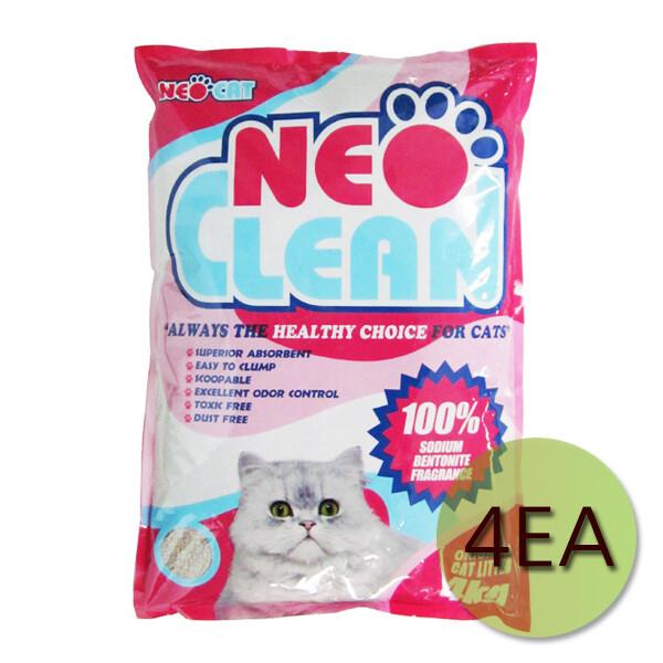 네오크린 오리지널 벤토나이트형 고양이모래 4kgX4개( 상품이미지