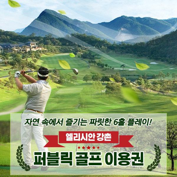 엘리시안 강촌 퍼블릭골프 이용권/골프연습장(~10.31) 상품이미지