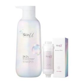 Skin U Shower Gel by HAPPY BATH for Dry Skin 600ml+Shower Filter
