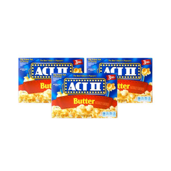 액트투 전자렌지용 팝콘 버터맛 (78g 3개입) 3박스 상품이미지