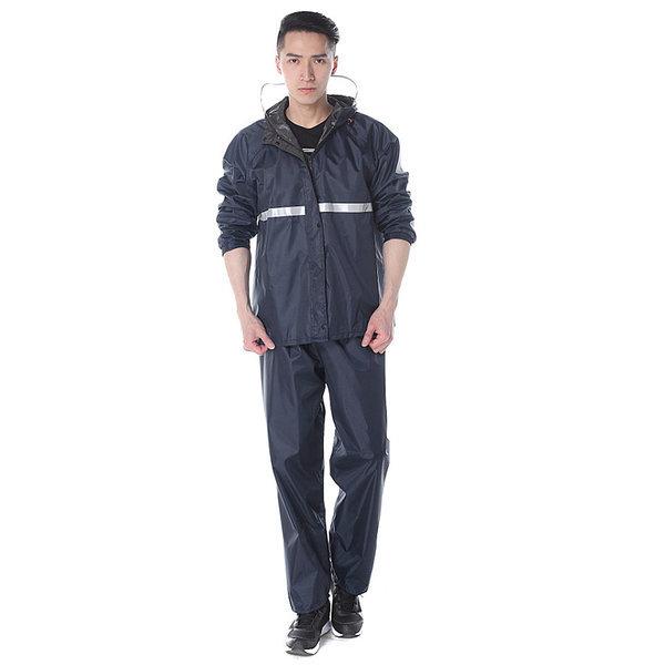 패션우의 (네이비)3XL/ 우비 판초 비옷 우의 레인코트 상품이미지