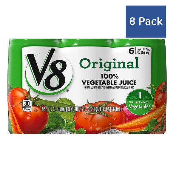 V8 Original 오리지널 야채 주스 163ml 6캔 8팩 상품이미지