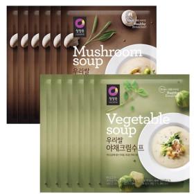 우리쌀 양송이 크림수프 6개+우리쌀 야채수프 6개