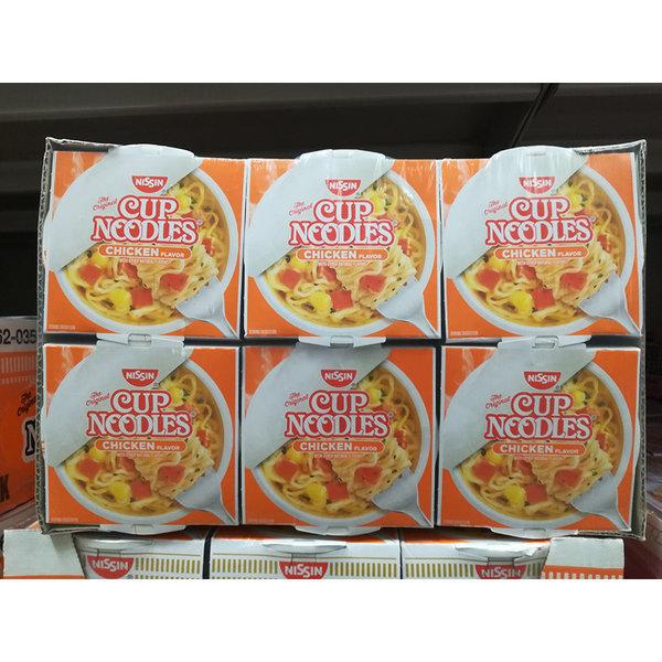 Nissin 컵라면 치킨맛 63g 6개 상품이미지