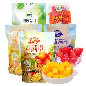 (뉴뜨레) 냉동 국내산딸기/애플망고/블루베리 1kg