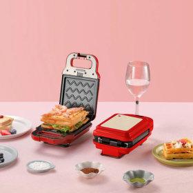 와플메이커(레드) 와플기 샌드위치 간식메이커 분리형