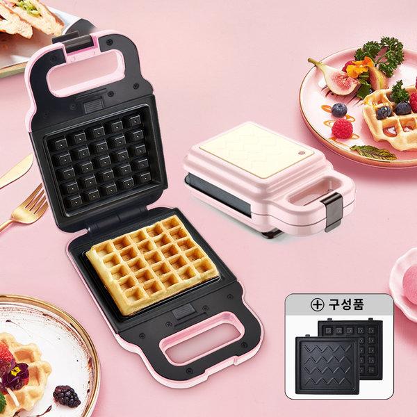 와플메이커(핑크) 와플기 샌드위치 간식메이커 분리형 상품이미지