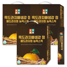 [SSF] Black Balloon Flower n Pear n Ginger Extract Stick 100 sticks (1 box) Economical Package